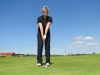 Grit Breuer spielt Golf