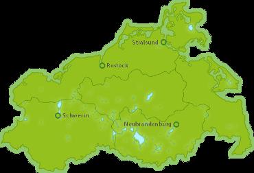 Golfurlaub Regionen in Mecklenburg-Vorpommern